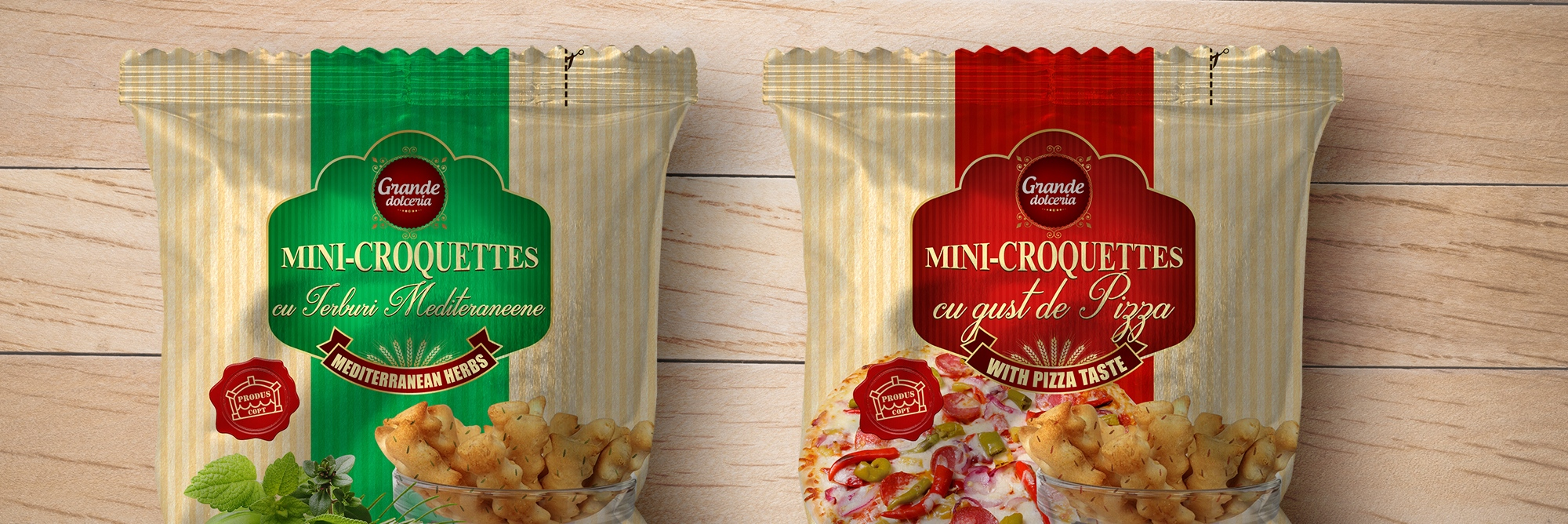 Croquettes Packaging design