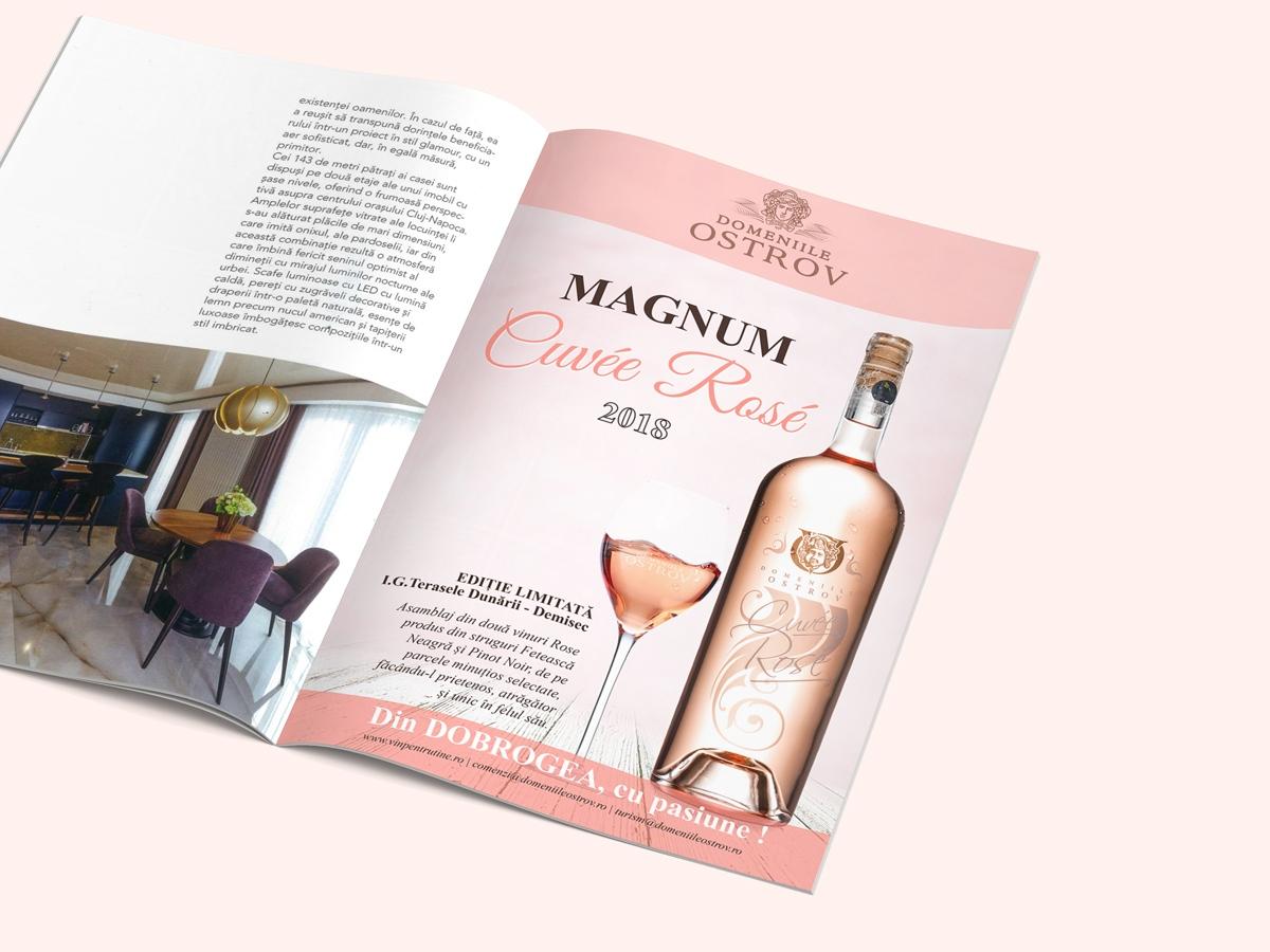 domeniile ostrov Noe wine, rose wine packaging design, wine label designer