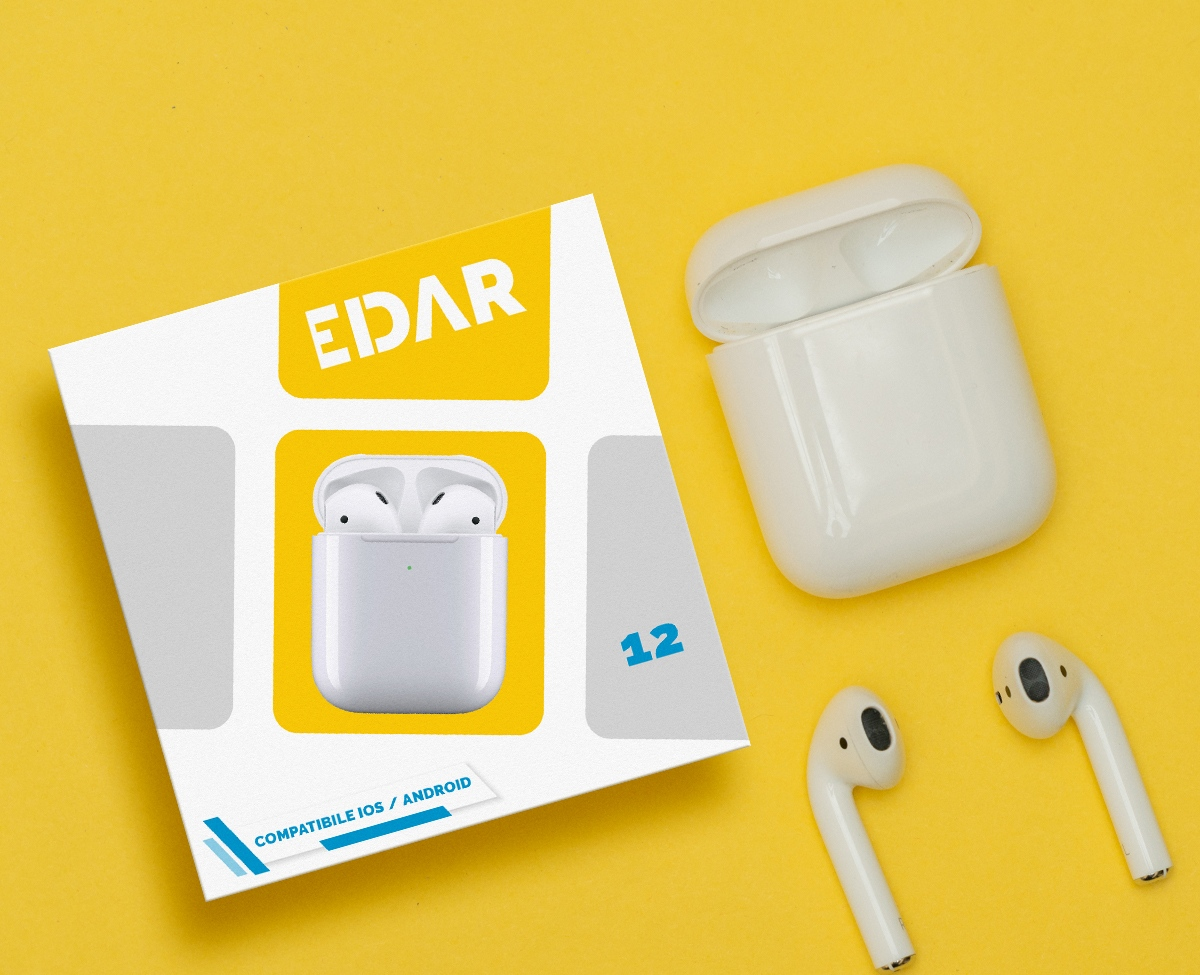 Edar Airbuds packaging design, box design