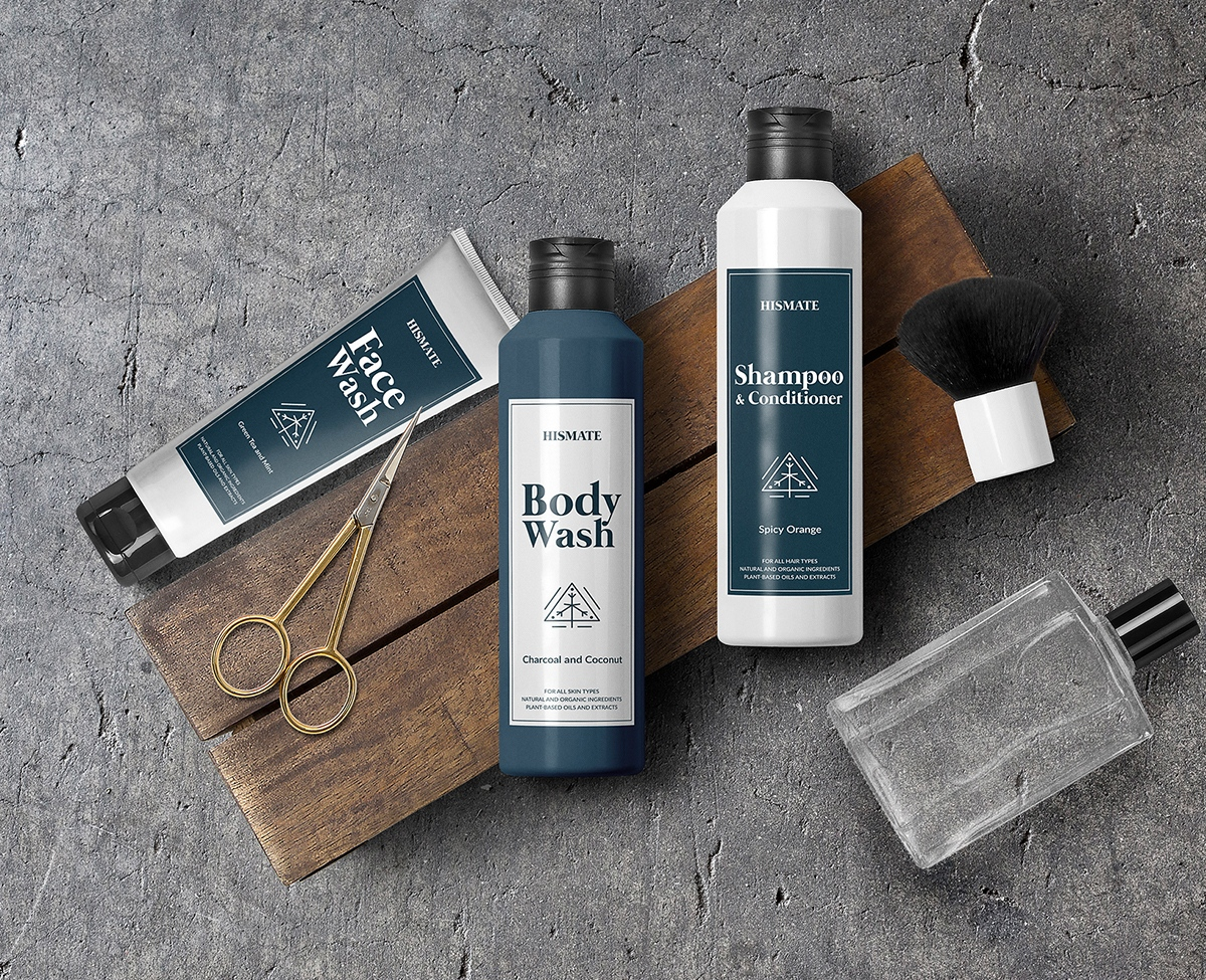 HISMATE male branding, male cosmetics, male packaging design