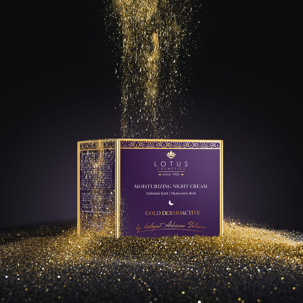Lotus Cosmetics Gold Dermoactive Branding and packaging design